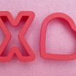 Hugs and Kisses Cookie Cutters — Stock Photo