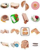 Coleção de sanduíches — Foto Stock