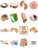 Collection of Sandwiches — 图库照片