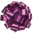 Large Metallic Purple Gift Bow — Stock Photo
