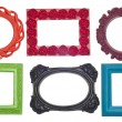 Stock Photo: Modern Vibrant Colored Empty Frames