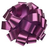 Large Metallic Purple Gift Bow — Stock Photo