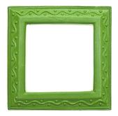 Green Square Modern Vibrant Colored Empty Frame — Stock Photo