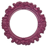 Purple Round Modern Vibrant Colored Empty Frame — Stock Photo