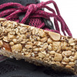 Stock Photo: Energy Bar and Sneaker Shoe Sports Nutrition Concept