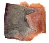 Pedaço de peixe salmão congelado — Fotografia Stock