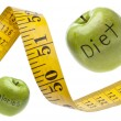 Stock Photo: Measuring Tape Diet Calories Concept