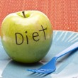 Diet Concept Apple — Stockfoto