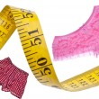 Stock Photo: Male Female Diet Health Concept Measuring Tape
