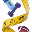 Measuring Tape Diet Fitness Concept — Stock Photo #4904313