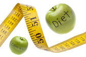 Measuring Tape Diet Calories Concept — Stock Photo