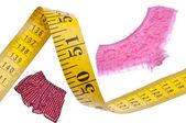 Male Female Diet Health Concept Measuring Tape — Stock Photo