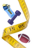 Measuring Tape Diet Fitness Concept — Stock Photo