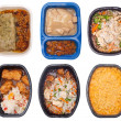 Collection of Six TV Dinners — Stockfoto