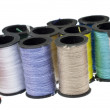 Spools of Thread Background — Stok fotoğraf