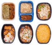 коллекция шести тв обедов — Стоковое фото