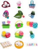 Collage Montage of Spring Easter Items — Stock Photo