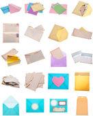 Zarf ve mektup modern ve klasik kolaj montaj — Stok fotoğraf
