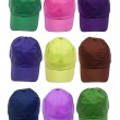Colorful Baseball Caps — Lizenzfreies Foto