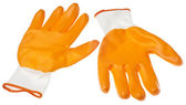 Orange Water Resistant Garden Gloves — Stock Photo