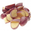 Stack of Sliced Baby Red Potatoes - Stock Photo