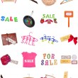 Collection of SALE Signs — Stock Photo
