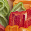 Sliced Bell Pepper Background - Stock Photo