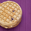 Frozen Blueberry Waffles — Stock Photo