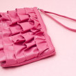 Trendy Pink Clutch Purse — Stock Photo