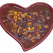 Black Bean Dip in a Heart Shaped Bowl — Foto Stock