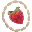 Royalty-Free Stock Photo: Circle of Vitamins with Strawberry
