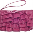 Pink Ruffled Clutch Purse — Stock Photo