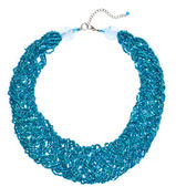 Teal Woven Bead Necklace — Stock Photo