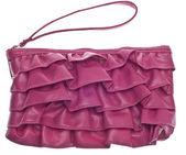 Pink Ruffled Clutch Purse — Stock Photo