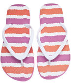 Pink and Orange Flip Flop Sandals — Stock Photo