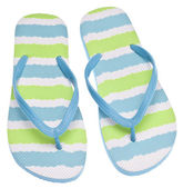 Blue and Green Flip Flop Sandals — Stock Photo