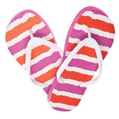 Flip Flop Sandals in Heart Shape — Stock Photo
