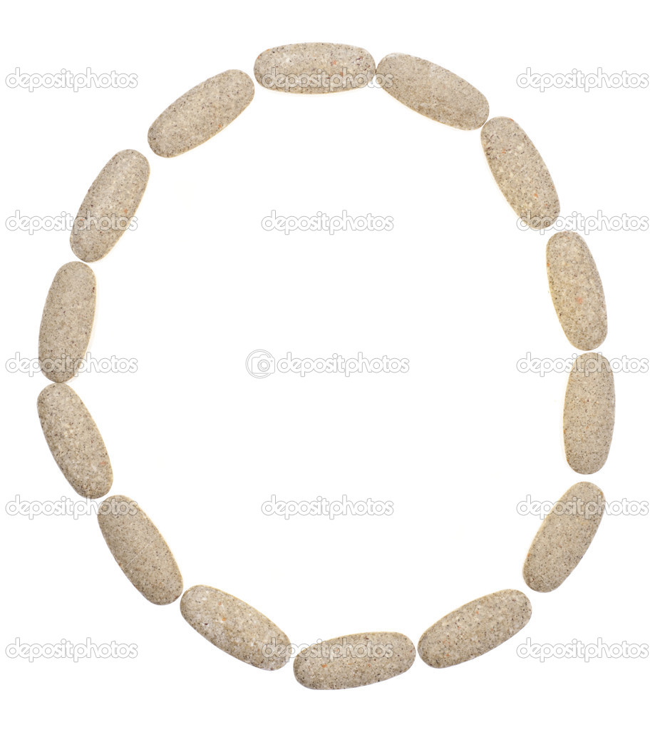 Circle of Pills Capsules Health Concept Isolated on White with a Clipping Path. — Stock Photo #5047294