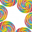 Rainbow Lollipop Background — Stock Photo
