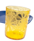 Vibrant Yellow Glass — Stock Photo