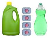 Bulaşıkları yıkamak için sabun temizlik — Stok fotoğraf