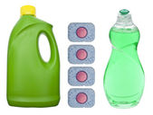 Limpieza jabones para lavar los platos — Foto de Stock