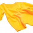 Stock Photo: Yellow Long Sleeve Tee Shirt