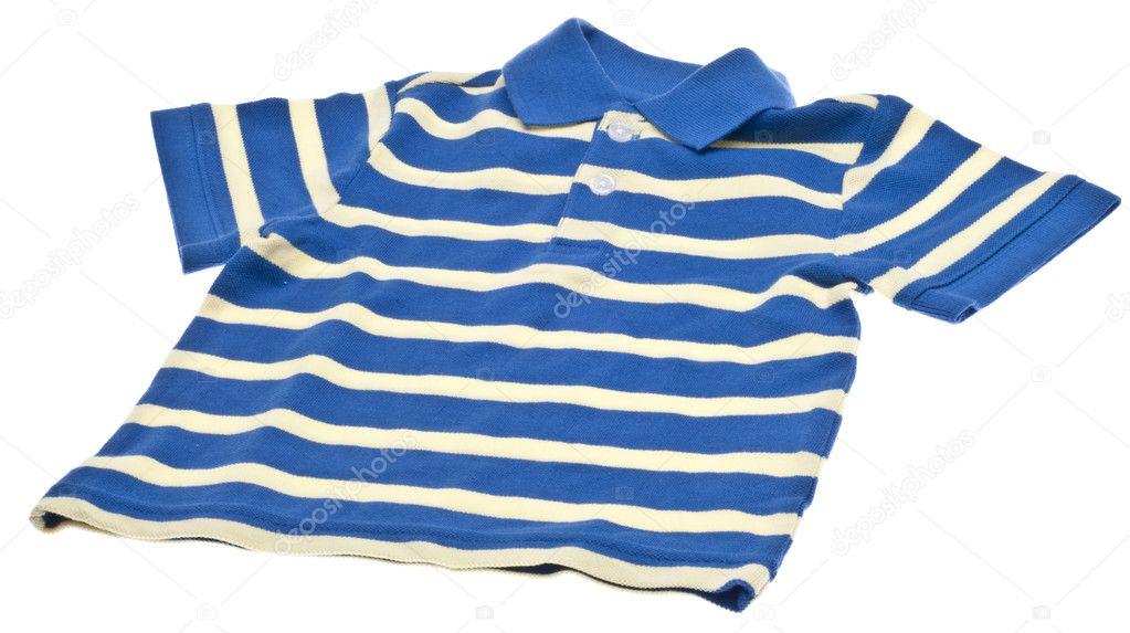 Blue Striped Polo Shirt Blue Striped Polo Shirt