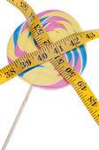 Pastel Rainbow Lollipop Diet Concept — Stock Photo