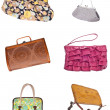 Set of 6 Ladies Purses Handbags — Stock Photo #5236210