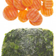 Frozen Spinach and Carrots — 图库照片