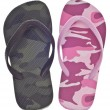 Stock Photo: Masculine and Feminine Camouflage Flip Flop Sandals