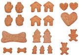 Coleção de cookies de forma — Foto Stock
