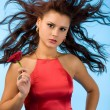 Woman in red — Stock Photo #4456849